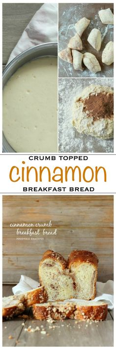 Crumb topped cinnamon bread finished with a sweet glaze | Foodness Gracious