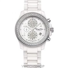 Ladies Thomas Sabo Glam Ceramic Chronograph Watch WA0180-206-202-40MM