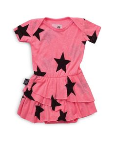 Nununu Infant Girls' Star Print Dress - Sizes 0-18 Months