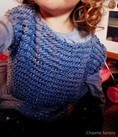 Tunique point liseuse taille 2 ans modèle gratuit sur phildar.com Réalisation : chipette factory