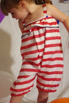 Expensive French baby clothes. Of course I love everything. Petithood.com Combi Stripe Bloomer €36