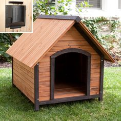 Precision Outback Country Lodge Dog House With Heater
