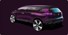 Renault Initiale Paris concept car. Discover some sketches from Renault Design.  Photo : Droits réservés Renault