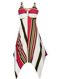 Asymmetric Hem Printed High Waist Open Back Dress on sale only US$33.00 now, buy cheap Asymmetric Hem Printed High Waist Open Back Dress at liligal.com
