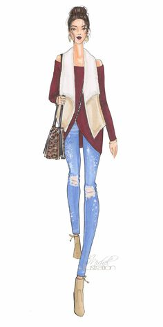 Fashion Illustration Downtown Chic by M.Michel Illustration