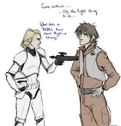 Parody of Star Wars scene with Hiccstrid.