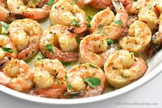 These super delicious Garlic Shrimp are easy to prep ahead and so quick to cook. Perfect for serving with a tossed salad or pasta.