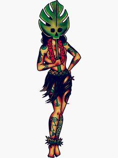 Hula Girl Tattoos, Pin Up Girl Tattoo, Girls With Sleeve Tattoos, Pin Up Tattoos, Body Art Tattoos, Traditional Tattoo Pin Up Girl, Traditional Sailor Tattoos, Traditional Tattoo Flash Art, Traditional Flash
