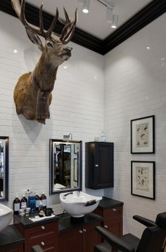"""Coolest barber shop ever """"shave please""""  www.lord-of-hahn.tumblr.com"""