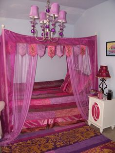 Arabian Nights Teen Girls Room, We decorated with an arabian nights theme all decor came from bombay kids. I used a light blue paint and als. Dream Bedroom, Home Bedroom, Girls Bedroom, Bedroom Decor, Bedrooms, Bedroom Ideas, Tidy Room, Desks For Small Spaces, Teen Girl Rooms