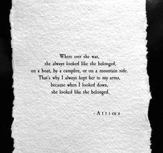 'Belonged' @atticuspoetry #atticuspoetry