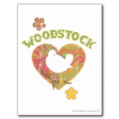 Woodstock Love 1969 Post Card