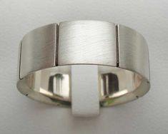 Stylish Sterling Silver Wedding Ring   UK Made! Wedding Ring For Him, Cool Wedding Rings, Sterling Silver Wedding Rings, Stylish, Beautiful