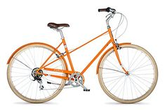 PUBLIC Bikes M7 FrenchStyle StepThrough Design Mixte City Bike Orange SmallMedium18 >>> Find out more about the great product at the image link. (This is an affiliate link)