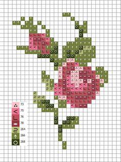 Mini Cross Stitch, Cross Stitch Borders, Cross Stitch Rose, Cross Stitch Flowers, Cross Stitch Designs, Cross Stitching, Cross Stitch Embroidery, Hand Embroidery, Cross Stitch Patterns