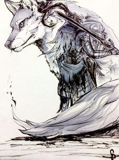 Inktober day 6 (I skipped 5 since I was sick). Knight of Gwyn , Artorias the abyss walker and his companion Sif from Dark souls. Sif Dark Souls, Dark Souls Artorias, Arte Dark Souls, Soul Saga, Bloodborne Art, Soul Tattoo, Wolf Tattoos, Dark Fantasy Art, Fantasy Characters