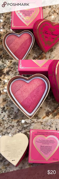 Too Faced Sweethearts Blush Brand New. Shimmering trio shades in color called Something About Berry. ❌NO Trades❌.      Retail $30 plus tax. Too Faced Makeup Blush
