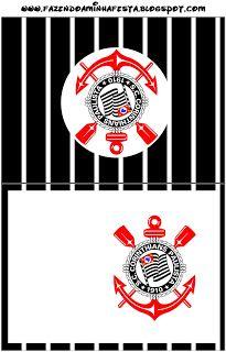 Corinthians - Kit Completo com molduras para convites, rótulos para guloseimas, lembrancinhas e imagens!
