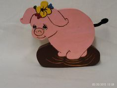 wooden piggy plaque  made to order by UneekWoodenCrafts on Etsy