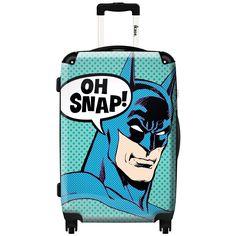 iKase 'Batman Oh Snap' 24-inch Fashion Hardside Spinner Suitcase