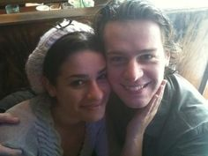 Jonathan Groff and Lea Michele! How cute are they? Glee
