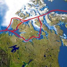 Kto jako pierwszy przepłynął przejściem północno-zachodnim na północy Kanady? Roald Amundsen.