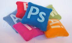 """Creative Sleep"" Mini Pillows - $32 for full size Illustrator (Ai) and mini Photoshop (Ps) and InDesign (ID). // Nerd dream XD"