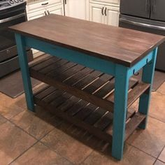 Consider Installing Kitchen Islands To Go With Your Unique Kitchen Design – Home Decor World Build Kitchen Island, Kitchen Island Decor, Kitchen Islands, Kitchen Island Made Out Of Pallets, Kitchen Layout, Kitchen Cabinets, Pallet Furniture, Furniture Projects, Furniture Websites