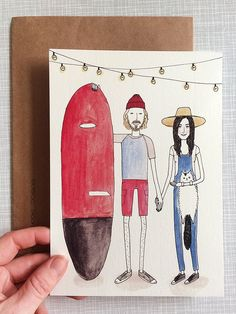 Wedding Invitation for a cute couple / Made by Marianne Lock / Made to order / www.maryandthelocks.nl
