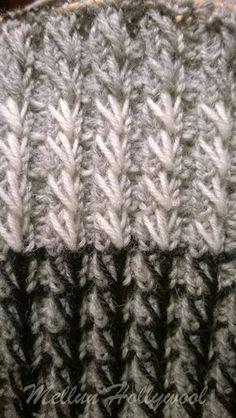 Keksin uuden resorimallin , kun istuin junassa ja neuloin 2 o 2 n -resoria tavalliseen sukkaan. Oli niin tylsää tehdä tavallista resoria, jo... Diy Crochet And Knitting, Knitting Stitches, Knitting Socks, Knitted Hats, Knitting Patterns, Yarn Crafts, Stitch Patterns, Needlework, Tech