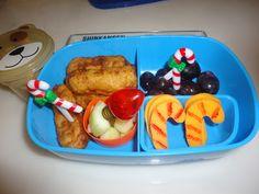 Bento Lunch: Candy Cane cheese 12-8-11 #christmas #bento www.facebook.com/BentoSchoolLunches
