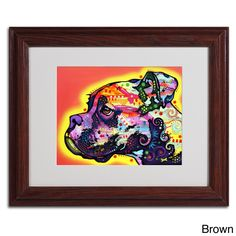 Dean Russo 'Profile Boxer' Framed Matted Art