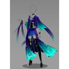 love these colors!! | Costume idea's | Pinterest ❤ liked on Polyvore featuring costumes, blue halloween costume and blue costume