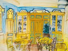 Raoul Dufy Cafe Interior 1934
