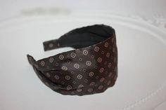Brown Chocolate Silk headband Women Hairband HeadBand silk