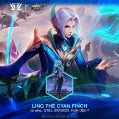 Ling Cyan Finch - Mobile Legends by efforfake on DeviantArt Minecraft Mobile, Video Game Companies, Online Battle, Mobile Legend Wallpaper, Best Mobile, Mobile Legends, Winwin, Anime Comics, My Best Friend