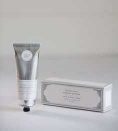 Washed Cotton Hand Cream packaging label design