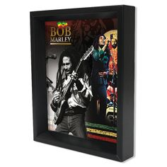 Bob Marley Vintage Advertisement Shadow Box