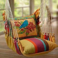 DIY hammock seat-