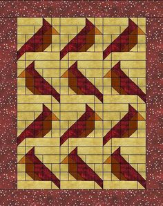 Cardinal FREE quilt block pattern at www.countryjunktion.com