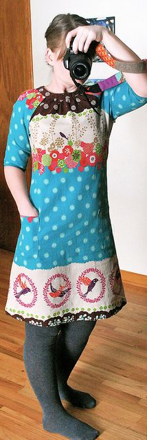 Built by Wendy Simplicity 3835 dress in Echino | Flickr - Photo Sharing!