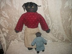 Vintage black americana stuffed mammy and by FabulousFinds1, $19.99