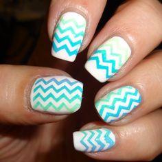 smART Nails Stencils - Chevron Lace #blue #white #nailart - bellashoot.com