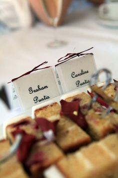 Homemade table decorations, made out of seed imbedded paper - guests can plant them at home for a permanent reminder of the day. C and G's wedding. Caroline Puntis. #Pin By:Pinterest++ for iPad# Homemade Tables, Making Out, Graham, Our Wedding, Ipad, Plant, Table Decorations, Paper, Plants