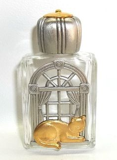 Cat Window vintage Perfume Bottle Jonette