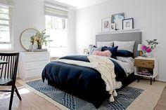 See how west elm Home Stylist Brendan Nash redecorated this calm and cosy bedroom. Cosy Bedroom, Dream Bedroom, Master Bedroom, Bedroom Decor, Bedroom Ideas, Bedroom Designs, Bedroom Wall, West Elm Bedroom, Scandinavian Bedroom