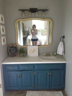 Transform Your Bathroom Vanity With Chalk Paint I Used