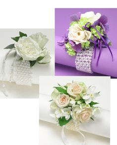 corsages for the mothers and grandmothers