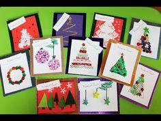 Kartki Bożonarodzeniowe - na ostatnią chwilę - YouTube Christmas Activities, Christmas Crafts, Simple Christmas Cards, Advent Calendar, Holiday Decor, Youtube, Bricolage, Advent Calenders, Youtubers