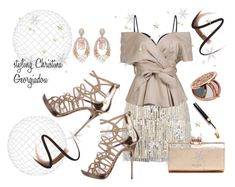 Night glam! by christina-geo on Polyvore featuring Mes Demoiselles..., Jimmy Choo, Ted Baker, Hueb, Burberry and Miss Selfridge